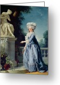 Tuileries Greeting Cards - Portrait of Marie-Louise Victoire de France Greeting Card by Adelaide Labille-Guiard