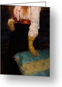 Floral Blouse Greeting Cards - Portrait of Miss MacWirter Greeting Card by Sir Lawrence Alma-Tadema