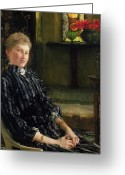 Sat Greeting Cards - Portrait of Mrs Ralph Sneyd Greeting Card by Sir Lawrence Alma-Tadema