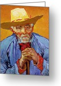 Elderly Painting Greeting Cards - Portrait of Patience Escalier Greeting Card by Vincent van Gogh