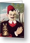 Cigarette Greeting Cards - Portrait of Pierre Loti Greeting Card by Henri Rousseau