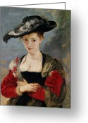 Rubens Painting Greeting Cards - Portrait of Susanna Lunden Greeting Card by Peter Paul Rubens