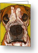 David Kent Collections Greeting Cards - Portrait of Sweetness Moe Greeting Card by David  Hearn