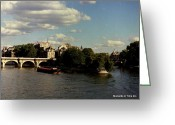 Glenn Mccurdy Greeting Cards - Portrait of the Heart of Paris 1964 Greeting Card by Glenn McCurdy