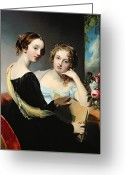 1823 Greeting Cards - Portrait of the McEuen sisters Greeting Card by Thomas Sully