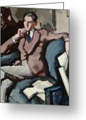 Cuffs Greeting Cards - Portrait of Willie Peploe Greeting Card by Samuel John Peploe