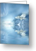 Snow Capped Digital Art Greeting Cards - Portrait of Winter Greeting Card by Sharon Lisa Clarke