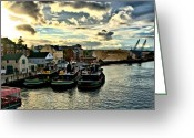 Nh Greeting Cards - Portsmouth Harbor 2 framed print can be seen on set of ABCs Desperate Housewives Greeting Card by Edward Myers