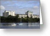 Scenic New England Greeting Cards - Portsmouth Naval Prison-Kittery ME USA Greeting Card by Erin Paul Donovan