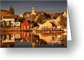 October Greeting Cards - Portsmouth Reflections Greeting Card by Susan Cole Kelly