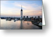 Victory Greeting Cards - Portsmouth waterfront Greeting Card by Jane Rix