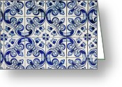 Portugal Art Greeting Cards - Portuguese azulejo Greeting Card by Gaspar Avila