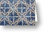 Portugal Art Greeting Cards - Portuguese Azulejo tiles Greeting Card by Gaspar Avila