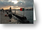 Nato Greeting Cards - Portuguese Navy submarine Greeting Card by Gaspar Avila