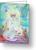 World Healer Greeting Cards - Poseidian Priestess Greeting Card by Joyce Jackson