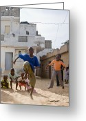 Senegal Greeting Cards - Poses I Greeting Card by Irene Abdou