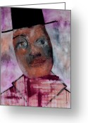 Posh Painting Greeting Cards - Posh Man Greeting Card by Edgeworth Johnstone