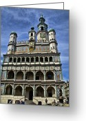 City Hall Greeting Cards - Posnan Poland   Old City Hall Greeting Card by Jon Berghoff