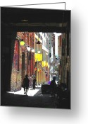 Washington Post Greeting Cards - Post Alley Greeting Card by Tim Allen