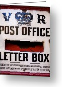 Old Street Greeting Cards - Post box Greeting Card by Jane Rix