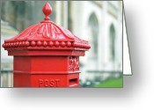 Mail Greeting Cards - Post Box ,royal Mail Greeting Card by Denise Couturier