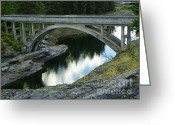 Spokane Mixed Media Greeting Cards - Post Falls Bridge - Scenic Idaho Greeting Card by Photography Moments - Sandi