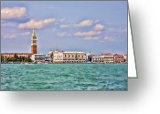 St Marc Greeting Cards - Postcard Of Venice Greeting Card by Daphne Sampson