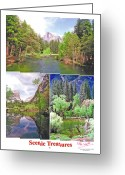 Treasures Greeting Cards - Poster - Scenic Treasures -1 Greeting Card by Peter L Wyatt