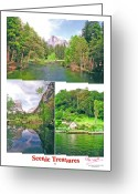 Treasures Greeting Cards - Poster - Scenic Treasures -2 Greeting Card by Peter L Wyatt