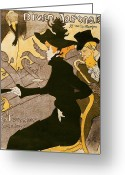 Chic Painting Greeting Cards - Poster advertising Le Divan Japonais Greeting Card by Henri de Toulouse Lautrec