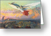 Great Painting Greeting Cards - Poster for the National Loan Greeting Card by Michel Richard-Putz 