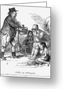 Political Acts Greeting Cards - Potato Famine, 1846 Greeting Card by Granger