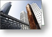 Metro Greeting Cards - Potsdamer Platz BERLIN Greeting Card by Melanie Viola