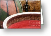 Jugs Greeting Cards - Pottery Abstract Greeting Card by Ben and Raisa Gertsberg