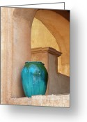 Sedona Greeting Cards - Pottery and Archways Greeting Card by Sandra Bronstein