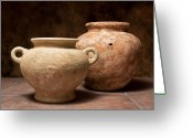 Pottery Photo Greeting Cards - Pottery I Greeting Card by Tom Mc Nemar