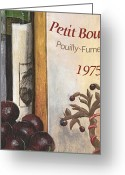 Food And Beverage Painting Greeting Cards - Pouilly Fume 1975 Greeting Card by Debbie DeWitt
