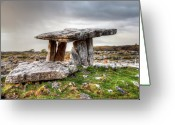 County Clare Greeting Cards - Poulnabrone Dolmen Greeting Card by Natasha Bishop