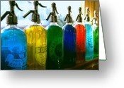Bar Greeting Cards - Pour Me a Rainbow Greeting Card by Holly Kempe