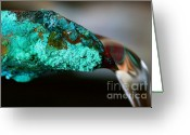Patina Greeting Cards - Pouring Copper Greeting Card by Jason Wolters