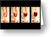 Pouring Greeting Cards - Pouring red wine Greeting Card by Svetlana Sewell