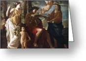 Poussin Greeting Cards - Poussin: Apollo Greeting Card by Granger