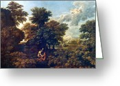 Poussin Greeting Cards - Poussin: Spring, 1662-63 Greeting Card by Granger