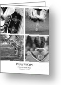 Jumping Greeting Cards - Pow Wow Montage Greeting Card by Gordon Wood