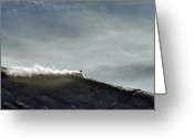 Isabel Greeting Cards - Powder Plume Sky Greeting Card by Kevin Munro