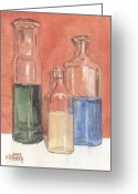 Liquid Greeting Cards - Power Failure Prescriptions Greeting Card by Ken Powers