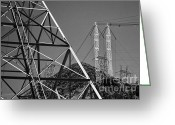 Hydroelectric Greeting Cards - Power lines Greeting Card by Hideaki Sakurai