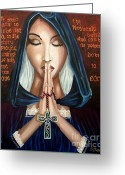 Carolinestreet Greeting Cards - Power of Prayer Greeting Card by Caroline Street