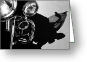 V Twin Greeting Cards - Power Shadow - Harley Davidson Road King Greeting Card by Steven Milner