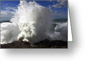Wave Greeting Cards - Powered by nature Greeting Card by Cedric Darrigrand
